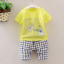 2017 Children's Suit Baby Boy Clothes Set Cartoon Cute Bear Brand Infant Sets For Newborn Baby Boy Girl Clothing Kids Suits