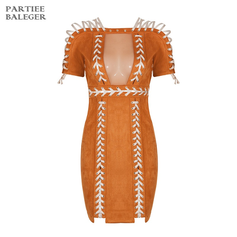 2019 New Summer Chic Elegant Suede Luxe Cross Criss Lace Up Mesh Patchwork Sexy Off The Shoulder Celebrity Evening Party Dress