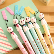 6 Pcs/pack Lovely cute face Sunny Doll gel pen cute pens material kawaii stationery c school office supplies Free shipping