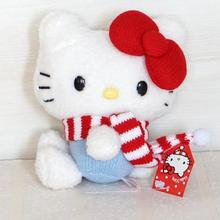 Hello Kitty My Melody Big Ears Cinnamoroll Dog Pudding Dog Japanese Anime Toys Soft Toy For Girl Scarves Plush Toys Doll Pendant(China)