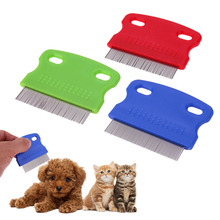 3pcs/set Pet Hair Flea Removal Flea Combs Stainless Steel Teeth Hair Brush Dog Grooming Brush for Dogs Cat Pet Supplies(China)