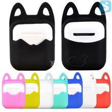 Cat Ears Design Soft Silicon Rubber Case Thicker Shockproof Protective Cover Pouch Shell Sleeve For Apple Airpods Air Pods Box