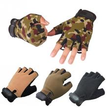 1 Pair Driving Tactical Exercise Half Finger Fitness Gloves Fingerless Microfiber Mens&womens Gloves