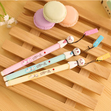 New arrivel lovely korean stationery sunny or rainy doll fresh high quality creative gift black pen unisex pen 7077