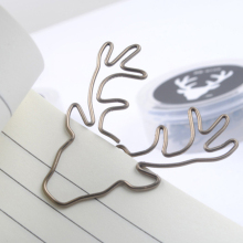 2017 Sale New Paperclip 8pcs/lot Vintage Deer Clip Paper Clips Bookmark Pin Stationery Office Accessories Memo Free Shipping(China)