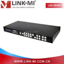 LINK-MI LM-H944F HDMI&VGA&AV mixed inputs 2x2 Video Processing Matrix switcher 4x4 Smart EDID HDMI Splicing Processor
