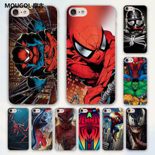 MOUGOL Comics Spiderman avengers design hard clear Case Cover for Apple iPhone 7 6 6s Plus SE 4s 5 5s 5c Phone Case(China)