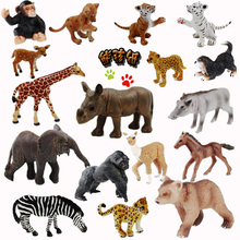 Original genuine the jungle wild farm animals cubs series 5 model toys collectibles kids learningl toys for children gift