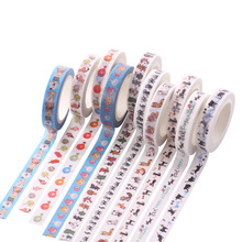 7m * 8mm Slim Adhesive Tape Kawaii Scrapbooking DIY Craft Sticky Deco Masking Japan Washi Tape Cute Stationery