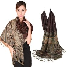 Fashion Scarf Women Double-Sides Fancy Paisley Wrap Scarf Pashmina Shawl Scarf Bee Wrap Shawl(China)