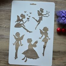 DIY Craft Angel Layering Stencils For Walls Painting Scrapbooking Stamps Album Embossing Paper Cards 30.7*20.7cm