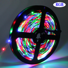 Tanbaby 2835 SMD strip light DC12V 5M 300 LED flexible ribbon tape lighting 3528 Non-waterproof White RGB Red Blue Yellow