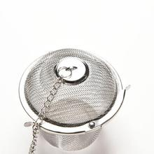 Bucket Reusable Stainless Steel Mesh Herbal Ball Tea Spice Strainer Teakettle Locking Tea Filter Infuser Spice 4 Size