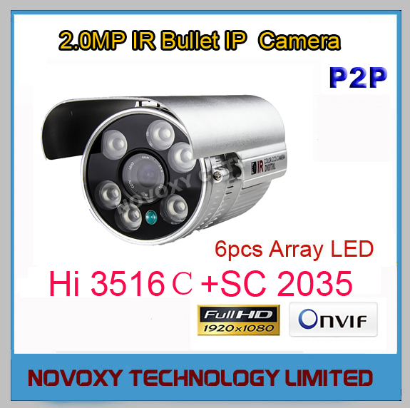 Free Shipping 2MP 1080P  HD IP Cam  HI3516C SC2035 CCTV IP Camera Outdoor Infrared Night Vision IR Bullet Box Camera<br><br>Aliexpress