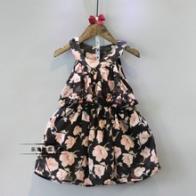 baby girls floral chiffon dress summer 2016 toddler girl dresses cheap clothing for child