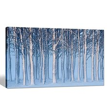 Winter Forest Picture Digital Print Snow Landscape Posters Home Decoration,24 Large Size,framed Canvas Artwork