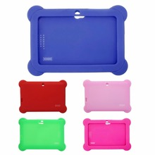 "OOTDTY Brand New Security High Quality Silicone Cute Soft Gel Box Cover For 7"" Android A13 A23 Q88 Tablet PC Kids(China)"