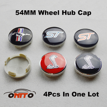 Free Shipping 4Pcs 54mm Label ABS Car Wheel Emblem Cap Shelby mustang Auto Wheel Logo Cover Badge