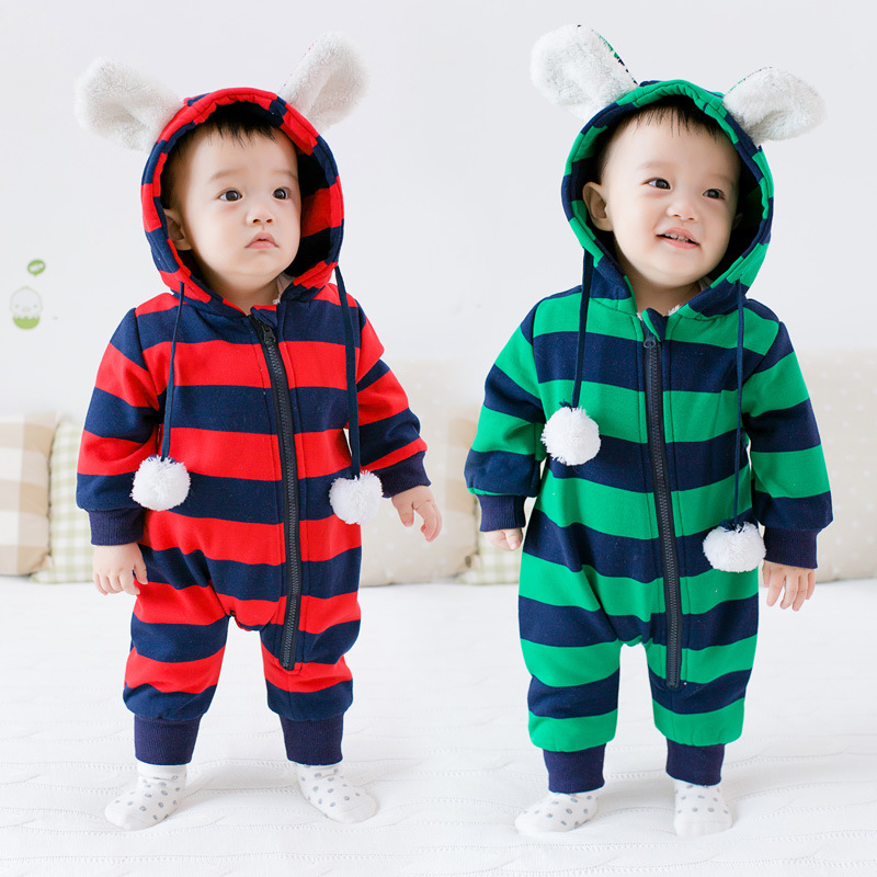 New Baby Girl Boy Clothes Baby Rompers Clothing Thick Cotton Newborn Boy Girl Clothes Next Body Baby Jumpsuit Striped Costume<br><br>Aliexpress