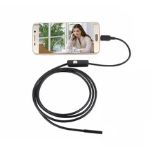 2m Waterproof USB PC Android Endoscope with 7mm 6LED Lens HD Pinhole Camera Inspection Borescope Endoscopy for Android Phone PC(China)