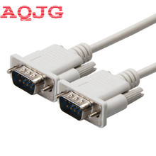 DB9 Male to male SERIAL DB9 RS232 9 PIN Data Cable SERIAL Cable PC Converter Extension Connector 1.5m 3m 5m 10m New(China)