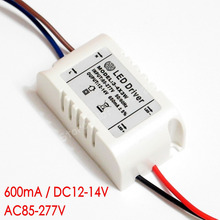 Hihg quality Isolated 600mA 2-4x3W Led Driver 2x3W 3x3W 4x3W Power Supply DC 6V - 14V AC 110V 220V 277V for LED lights(China)