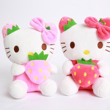 20cm Hello Kitty Plush Toys Kids Kitty Toy Doll Soft Stuffed Animal Dolls Home Car Party Decor Festival Gift(China)