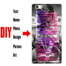 DIY Photo Name Text Customized Coque Shell Phone Case Cover Phone Cases for Huawei P7 P8 P9 P10 Lite Mate s 7 8 9 Plus G7 G8(China)