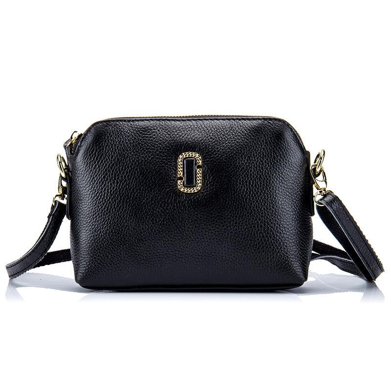 Multi-Pocket Crossbody Purse Bag Women Small Real Leather Messenger Bags Female Crossbody Shoulder Bags Mini Clutch Purse Bag<br>