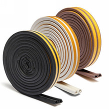 5M D/E/P Type Foam Draught Excluder Self Adhesive Window Door Seal Strip For Door Accessories(China)