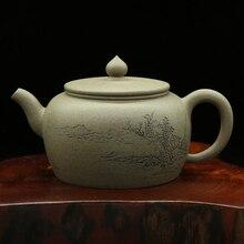 Аутентичные китайский Чай горшок ручной работы duanni глины Чай горшок происхождения Исин большой мастер <strong>ручная</strong> работает Runyu чайник(China)