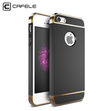 CAFELE Original Case for iphone 5s cases Luxury Back cover for Apple iphone 5 se case Hard PC Armor shell Micro Scrub touch feel(China)