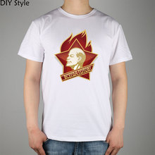 Soviet Union Always Ready Lenin Cccp Ussr Hiking Tshirt White Gray Cotton Men Printing New Diy Style Hiking Outdoor T Shirt