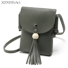 XZXBBAG Women Cute Mini Tassel Zipper Messenger Bags Girl Cell Phone Pouch Students Children Crossbody Case Hasp Shoulder Bags(China)
