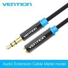 Vention Jack 3.5mm Male to Female Audio Cable Headphone Aux Audio Extension Cable 3m 5m for Computer Headphone Cellphone DVD MP4(China)
