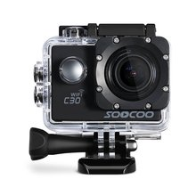 SOOCOO C30 Action 4K Sports Camera Wifi Built-in Gyro Adjustable Viewing angles(70-170 Degrees) 2.0 LCD NTK96660 30M Waterproof