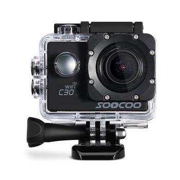 Soocoo c30 4 k wifi action sports cámara incorporada del girocompás ángulos de visión ajustables (70-170 grados) 2.0 lcd ntk96660 30 m impermeable