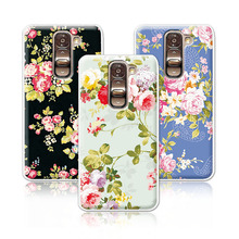 2016 Luxury Floral Painted Case For LG G2 Mini D620 D618 Cover Art printed Flower Cell Phone Case For LG G2 Mini Case+Free Pen(China)