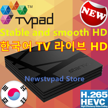 [Genuine] Korean Tvpad 4 linestv box Korea Movies Built-in WIFI Android TV free korean live channels Streaming IPTV HD TV TVPAD4(China)