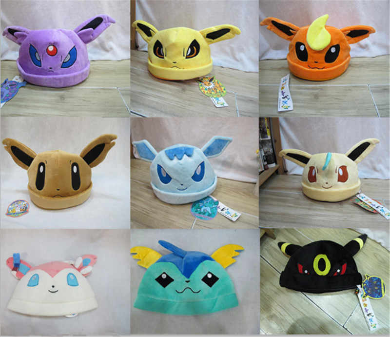 72845f44bf0 New Hot Pokemon Go Eevee Umbreon Sylveon Snorlax Cute fashion keep warm  Soft Plush Costume Hat