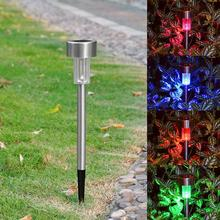 Colorful Solar LED Lawn Light Garden Lamp Outdoor Landscape Path Patio Stake(China)