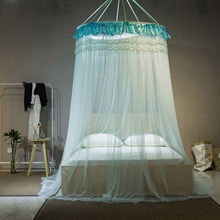 single door mosquito net for double bed hung dome mosquito to bed net adult bed canopy queen size canopy bed net(China)