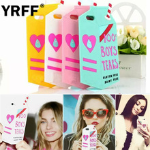 YRFF Fashion Colourful Milk Box Design model silicon soft Back Case Cover For iphone 5 5S 5G Mobile Phone cases shell(China)