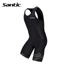 Santic Triathlon Cycling Jersey 4D Padded Quick Dry Sleeveless Cycling Skinsuit Bike Jersey Clothing For Swimming Running Riding