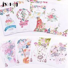 Kawaii 16 sheet letter paper+ 8 pcs envelopes flowers Letter pad Set/set writing paper Office&School Supplies Free shipping(China)