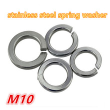 100pcs m10 304 stainless steel a2 - 70 spring washer / gasket split lock washer / shim elastic washer(China)