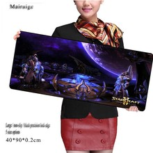 Large Game starcraft  Movie Mouse Pad 900*400*2mm New Arrivals with Edge Locking Speed Version Game Keyboard Pad for CSGO Gamer