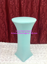 10pcs Extra Larger #44 Aqua Lycra Cocktail Table Cover ,Lycra Dry Bar Cover Wedding Events &Party Decoration(China)