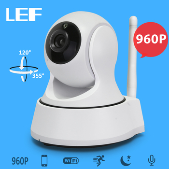 LEF 960P WiFi IP Camera Home Security CCTV with Night Vision Two Way Audio P2P Remote View