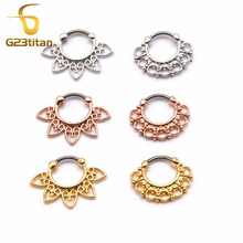 High Quality Plated Gold Fake Septum Ring G23 Titanium Pole Septo Piercing Nez Jewelry